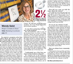Wendy Geist: BBJ Rosie the Lawyer