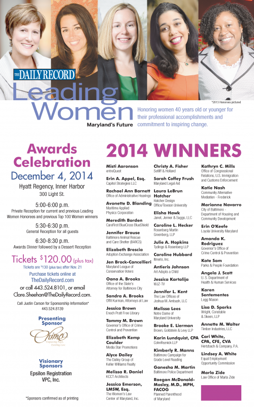 Leading Women News Release REVISED